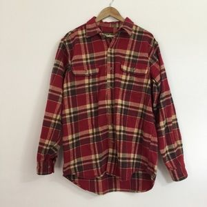 Field & Stream Mens flannel shirt Large Tall red